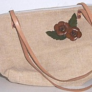 Tweed Purse 100% Leather Trim Mint!