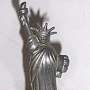 Vintage Statue of Liberty Pewter Bell
