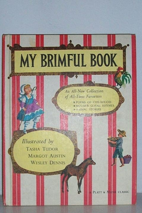 My Brimful Book Tasha Tudor 1st edition 1969
