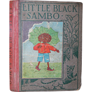 1923 Little Black Sambo 'Wee Book for Wee Folks' Hardcover Book