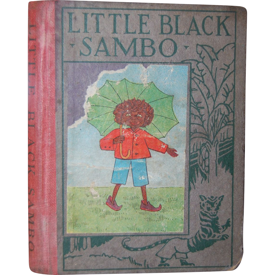 1923 Little Black Sambo Wee Book For Wee Folks Hardcover