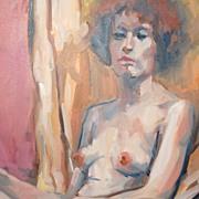 Albert Herr ~ Nude Impressionist Oil Painting