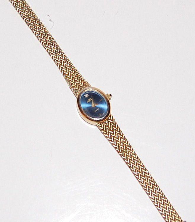 1980s Jules Jurgensen ~ Blue Dial Diamond Chip Watch