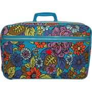 1960s Bantam ~ Mod Flower Power Suitcase