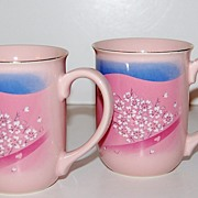 Otagiri ~ Set of 2 Pink Floral Mugs