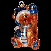 Boyds Bear ~ Large Glass Christmas Ornament