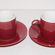 Vintage Japanese Demitasse Cups & Saucers ~ Set of 2