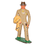 1930s Barclay ~ Man in Tan Suit Toy Figurine