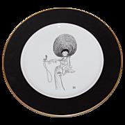 Al Hirschfeld/ Bloomingdale's ~ Lena Horne Porcelain Collector's Plate