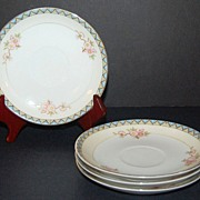 1912 Noritake ~ The Marne Saucers ~ Set of 4