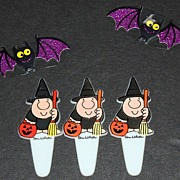 1970s Set of 3 Ziggy Halloween Cupcake Toppers
