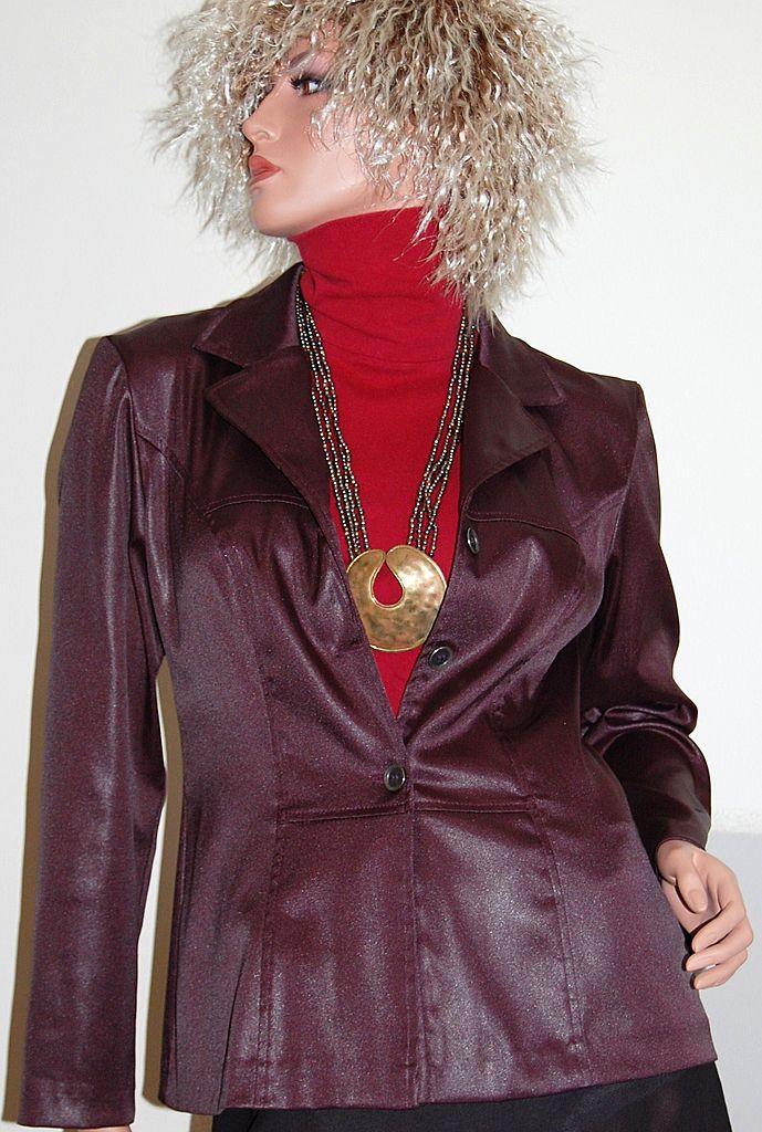1970s Dawn Joy ~ Eggplant Purple Shirt/Jacket