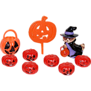 Hallmark ~ Set of 9 Witch & Pumpkin Cupcake Toppers
