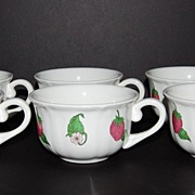 Liberty Hall ~ Set of 6 Strawberry Patch Cups