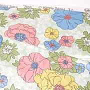 Vintage Waverly Glosheen ~ Tahiti ~ Pop Art Flower Fabric