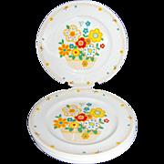 1970s Noritake ~ Set of 4 Crazy Quilt Dinner Plates