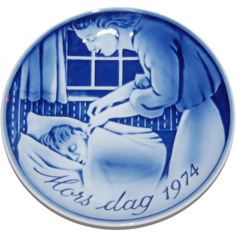 1974 Georg Jensen Denmark Mors Dag Mother's Day Plate