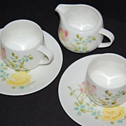 Vintage Seyei ~ 5-Pc Cup, Saucer & Creamer China Set ~ Japan