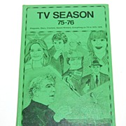 1975-76 TV Season Hardcover Book