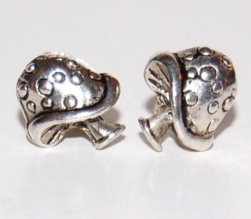 Groovy Stainless Steel Mushroom Pierced Post Earrings