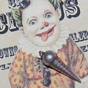 1940s Sterling Silver 3D Ice Cream Cone Pendant/Charm
