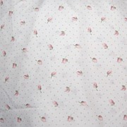 1970/80s Springs ~ Pink Tulip & Polka-Dot Twin-Size Bed Skirt - Red Tag Sale Item