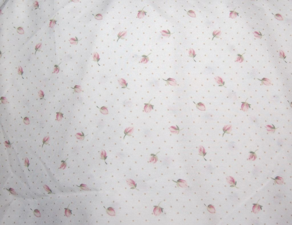 1970/80s Springs ~ Pink Tulip & Polka-Dot Twin-Size Bed Skirt