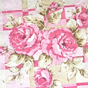 "Vintage Pink Rose Damask Polyester Fabric ~ 36 x 45"" Bolt"