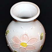 Vintage W. Germany ~ Pink Ceramic Flower Vase