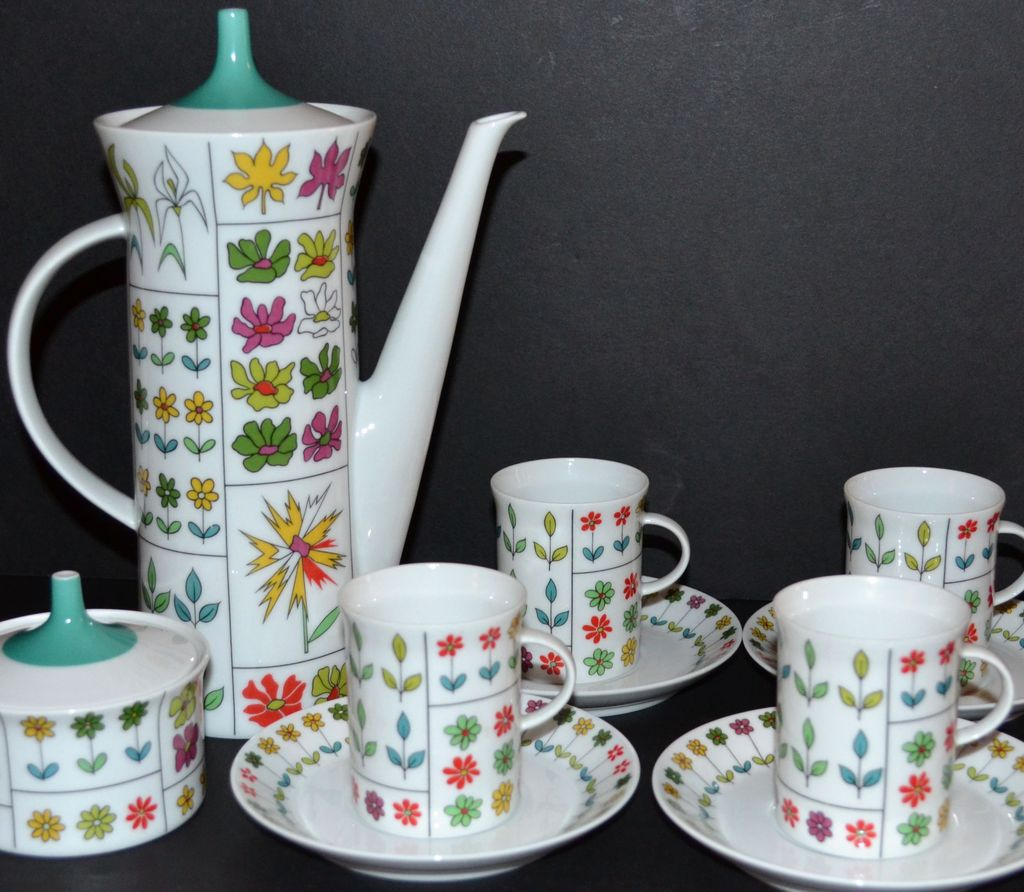Emilio Pucci ~ Rosenthal ~ 12-Pc Coffee Pot & Demitasse Cup Set