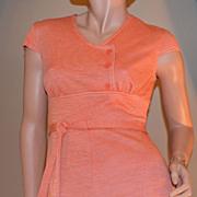 1960s Jerrell of Texas Orange Mini Dress