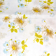 1960/70s Morgan Jones ~ Yellow Daisies No Iron Twin Flat Sheet