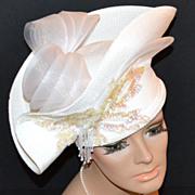 Anthony Design ~ Outrageous Embellished White Hat