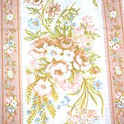 1960s St. Mary's ~ Ivory & Copper Percale Twin Flat Sheet - Red Tag Sale Item