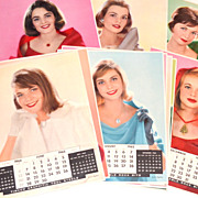 1965 Timken ~ Complete Set of 12 Huge Calendar Girl Posters