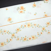 1960s Cannon ~ Daisy Flower Twin No Iron Percale Flat Sheet