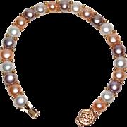 14K & Coin Pearl Bracelet