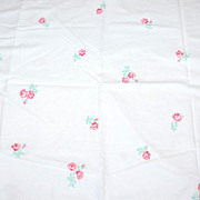 1960s Fieldcrest ~ Deep Pink Rose Standard Pillowcase