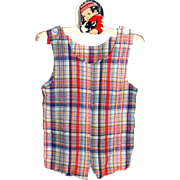 1960s Royal Heir ~ Child or Doll Plaid Romper