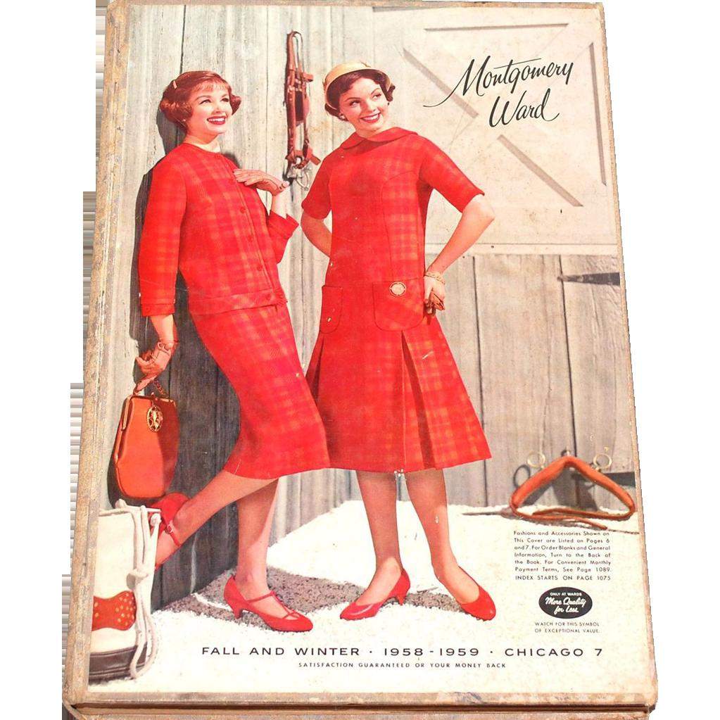 1958 59 Montgomery Ward Hardcover Fall Amp Winter Catalog
