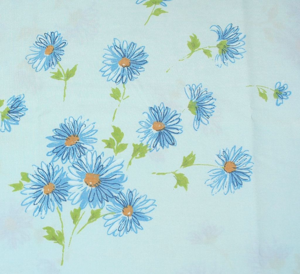 1960s Pacific Miracale ~ Blue Daisy Standard Pillowcase from kitschandcouture on Ruby Lane