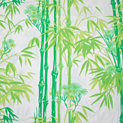 1960s Pacific ~ Bamboo Garden Twin Flat Sheet & Pillowcase