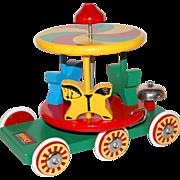 Brio ~ Swedish Wood Carousel Horse Pull Toy
