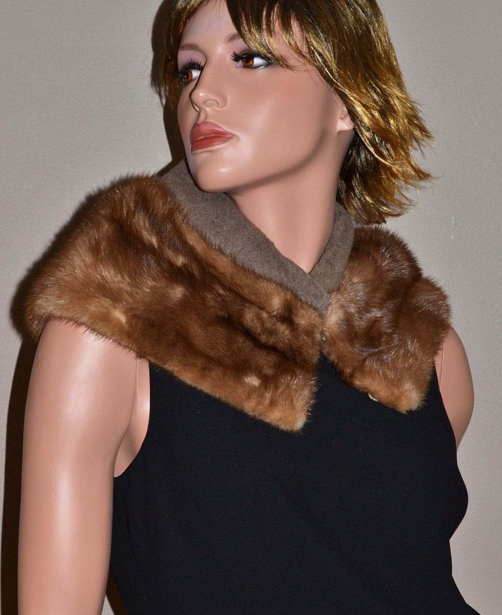 1940/50s Genuine Brown Mink Fur Collar Stole from ...