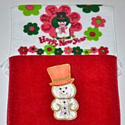 Set of 2 Christmas Kitchen/Bath Fringe Towels