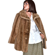 1960s Grandella ~ Sportowne ~ Honey Brown Faux Fur Coat