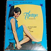 1960s Theme Stockings ~ Nylon Stockings Lingerie Box