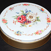 1950s DeMets ~ Floral Candy Tin