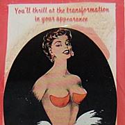 1940/50s Bleumette Push-Up Bra Pads in Original Package