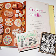 1950s Miniature Boxed Cookie Cutters & Dessert Cook Book